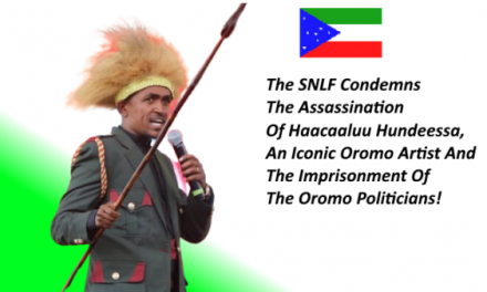 SNLF (Sidama) condemns the assassination of Hachalu Hundessa