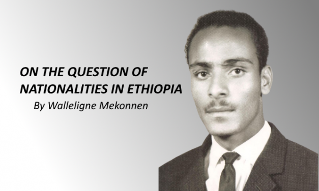 On the question of Nationalities in Ethiopia.